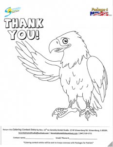 Coloring Book Page for Troops